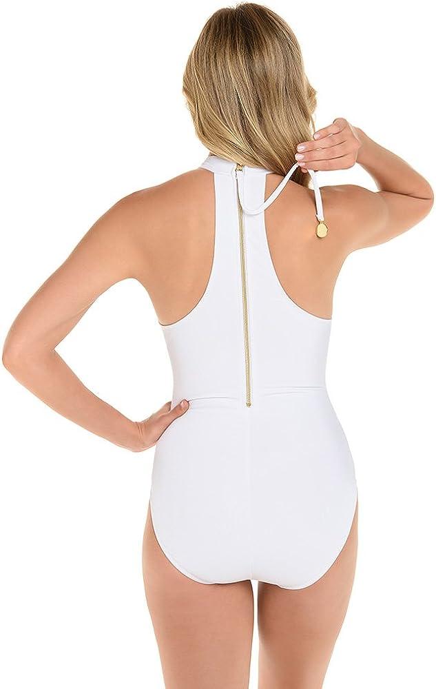 Magicsuit Womens Magic Solids Ursula High Neck Racerback One Piece Swimsuit