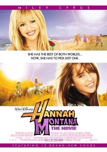 HANNAH MONTANA THE MOVIE MOVIE POSTER 2 Sided ORIGINAL 27x40