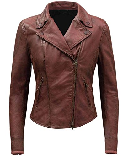 Red Jacket Costume Ideas (Ramsey Costume Gift Ideas Fate of The Furious Red Real Leather Outwear For Her Jacket XL)