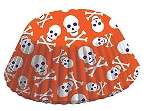 Fox Run 4354 Purple and Orange Skull Bake Cups, Standard, 50 Cups