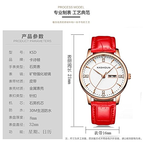 Generic Card_poem,_genuine_double_calendar_casual_waterproof_ stylish trendy_ students quartz _jacket_with_Ladies_ women girls watch women girls watch