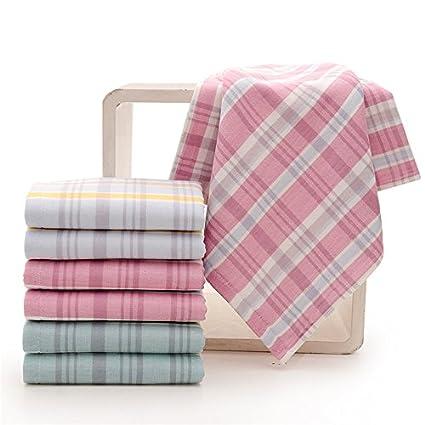 mmynl hilo algodón puro Toalla algodón toalla de cara Toallitas adulto hembra par lavar cara celosías