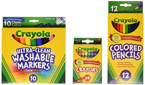 Crayola Back To School Supplies, Grades 3-5, Ages 7, 8, 9, 10 (Amazon Exclusive)