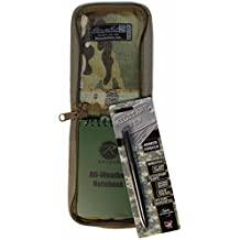 """All Weather Tactical 3""""x5"""" Notebook Kit Multicam Cover & Fisher Military Space Pen"""