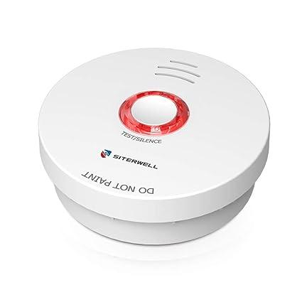 Amazon.com: Siterwell funciona con pilas alarma de humo 10 ...