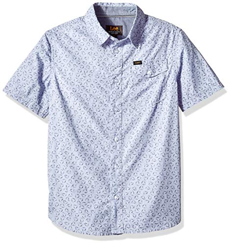 Drees Up Boys (LEE Boys' Big Short Sleeve Button Up Shirt, White,)