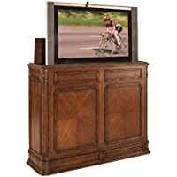 TV Lift Cabinet Extra Large for 40-52 inch Flat Screens (Stained) AT004873-STND