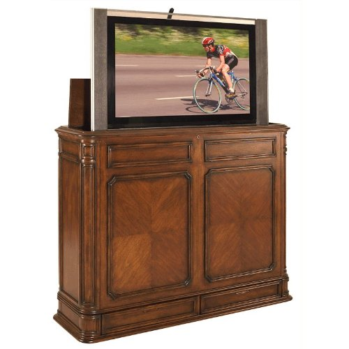 TV Lift Cabinet Extra Large for 40-52 inch Flat Screens (Stained) AT004873-STND by TVLIFTCABINET, Inc