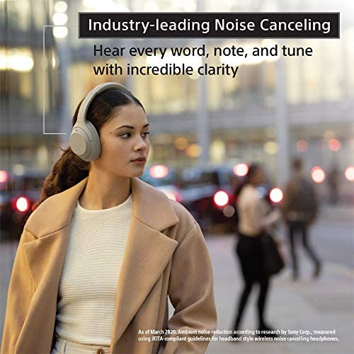 Sony WH-1000XM4 Wireless Industry Leading Noise Canceling Overhead Headphones with Mic for phone-call and Alexa voice control, Black 51yQs0BxzDL