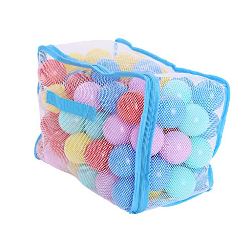(Outique Colorful Ball Ocean Ball, 100PC Seven Color Baby Plastic Wave Child Swimming Pit Toy Fun Net Bag Soft Endurance)