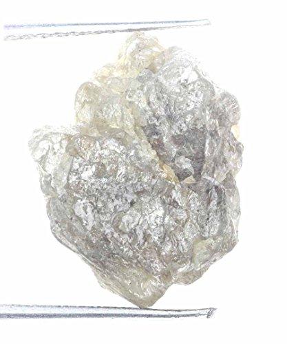 Amazing Rough Natural Silver Graying Color 9.94 Ct Natural Loose Diamond by Kakadiya Group