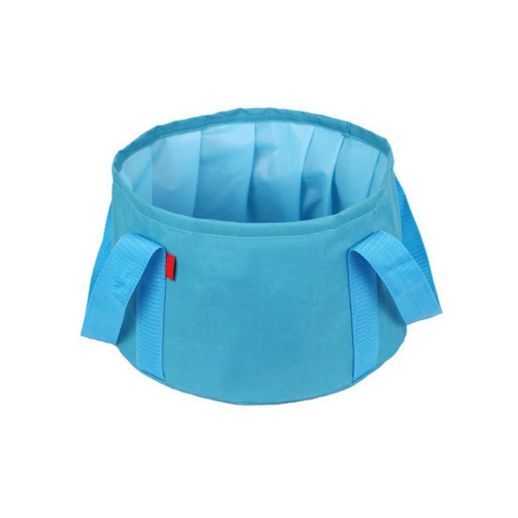 quietcloud折りたたみ式水Wash Bagバケットポットシンク盆地の旅行キャンプハイキングアウトドア B07951RLGJ  ブルー