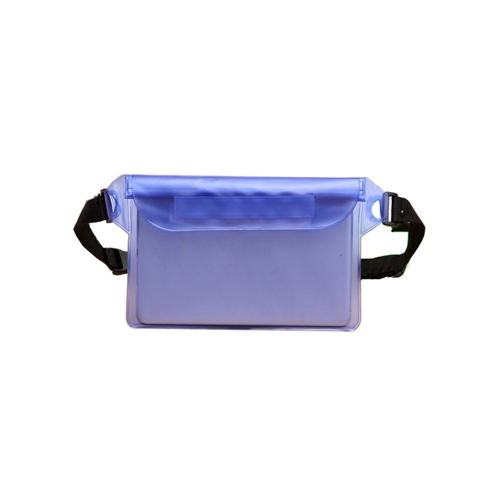 Phone Waterproof Bag for Swimming Key Easy Pouch Handy Can Float Beach Beach Bag for Valuables with Strap Pink/Blue by Alxcio