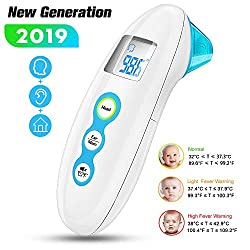 Baby Thermometer AERZETIX Instant Forehead and Ear Thermometers Accurate Medical Digital Infrared Thermometer for Fever Professional Clinical Electronic Thermometers for Infant Baby Children, Adults