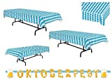 3 pc Oktoberfest Table Cover & Oktoberfest Letter Banner Value Party Pack