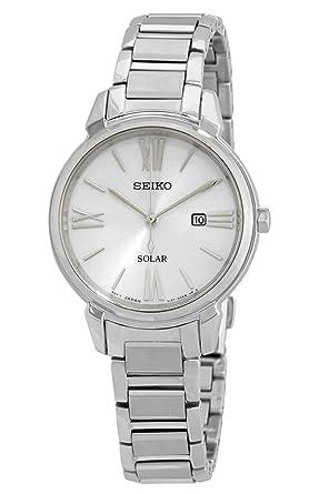 Seiko Reloj Analógico para Mujer de Cuarzo con Correa en Acero Inoxidable SUT323P1: Amazon.es: Relojes
