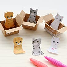 5pcs/lot HOT SALE! kawaii stationery cat sticky memo pad/cute animal sticky note/office post-it note/scrapbook sticker