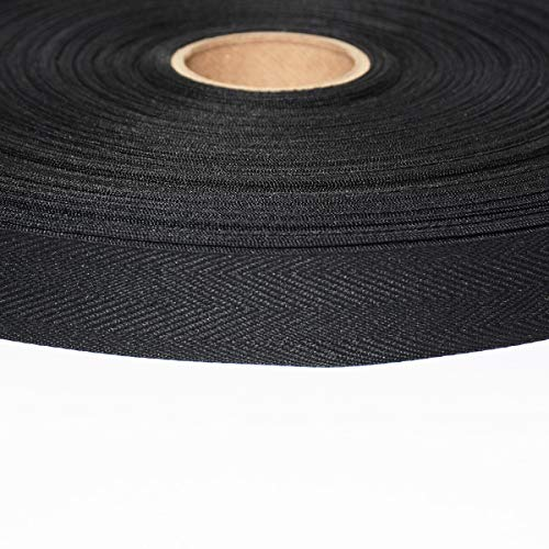 AbbeyShea 3/4in Polyester Twill Tape Black