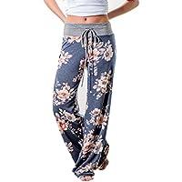 2e5fd0b616333 LOSRLY Women Floral Print High Drawstring Waist Wide Leg Palazzo Pants Plus  Size