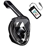Pankoo Full Face Snorkel Mask, 180º Panoramic View Diving Scuba Mask Easy Breath with Anti-Fog and Anti-Leak with Adjustable Head Straps Design for Adults,Youth,Kids