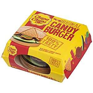 CARAMELLE GOMMOSE CHUPA CHUPS CANDY BURGHER ORIGINAL 130GR TASTY SNACK CANDY MIX