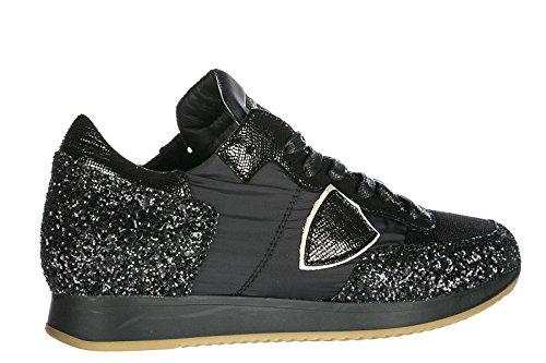 Tropez Philippe Sneakers Camoscio Scarpe Nuove Model Nero Donna r6zrYFq