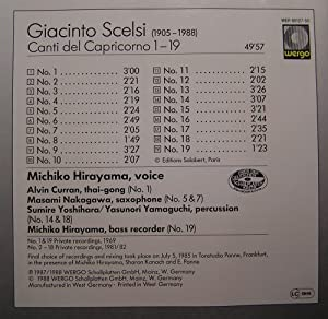 Giacinto Scelsi. Canti Del Capricorno 1-19