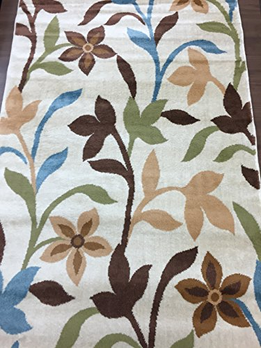 Rugshop Modern Contemporary Leaves Design Area Rug 3 3 Quot X