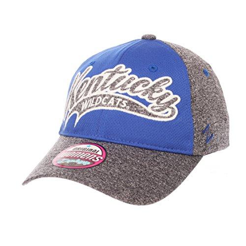 Zephyr NCAA Kentucky Wildcats Women's Tempest Women's Hat, Adjustable, Grey/Team Color