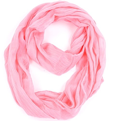 Womens Crinkled Lightweight Infinity Scarf