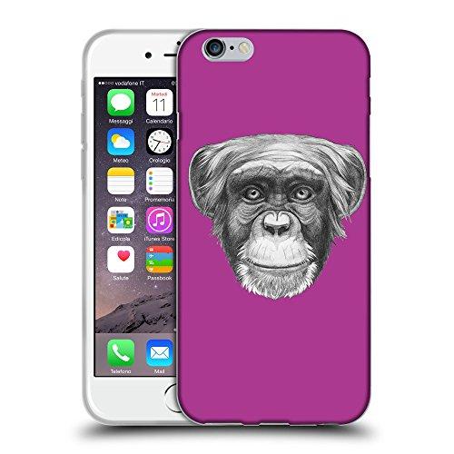 "GoGoMobile Coque de Protection TPU Silicone Case pour // Q05170621 Dessin singe byzantin // Apple iPhone 6 PLUS 5.5"""