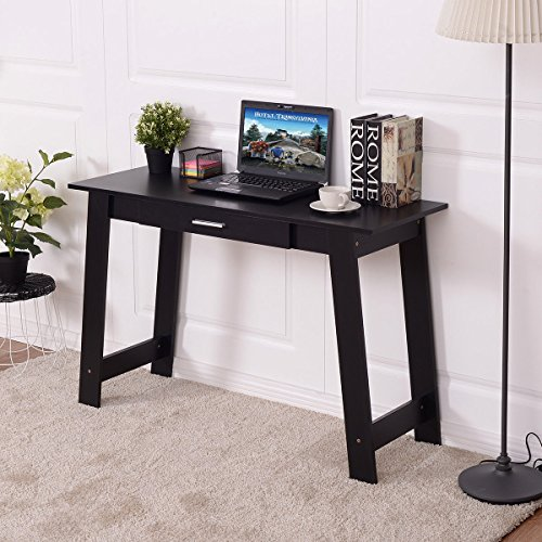 Tangkula Computer Desk PC Laptop Table Home Office Modern Simple Study Work Station Writing Table W/Drawer Black by Tangkula