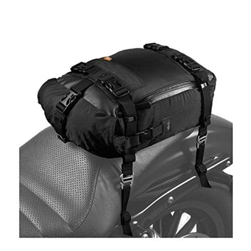 (Motorcycle Seat Bag, SEEU Universal Motorcycle Tail Bag, Black, 20 Liters)