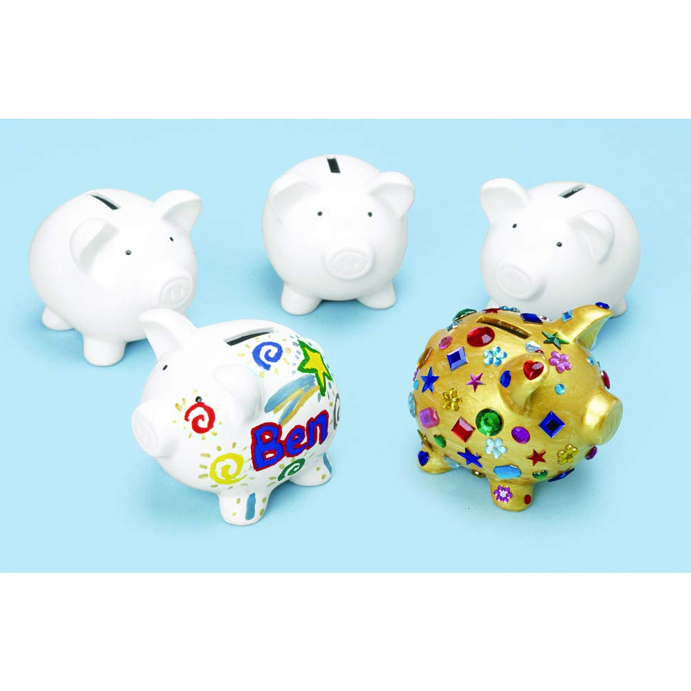 Colorations Decorate a Piggy Bank Kit of 12 Piggy Banks for Kids Art Project (Item # Piggy) by Colorations (Image #1)