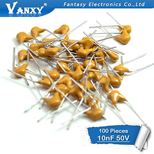 HATOLY 100PCS 10NF 0.01uF 10% 5.08MM 103 50V MLCC Multilayer monolithic Ceramic Capacitor 0805 Hot Sale