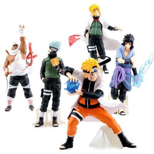 Nicky's Gift 5pcs Naruto Anime Action Figures Toy Set by PSK Limited New Kids Toy Gift