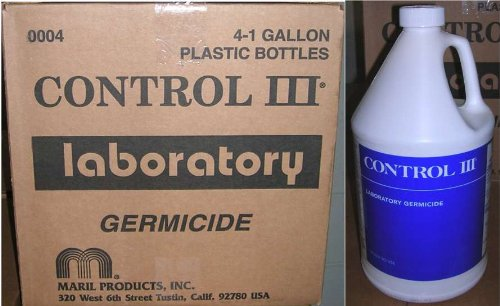 Control III Disinfectant Laboratory Germicide Plastic Bottle 4x1GL/Case