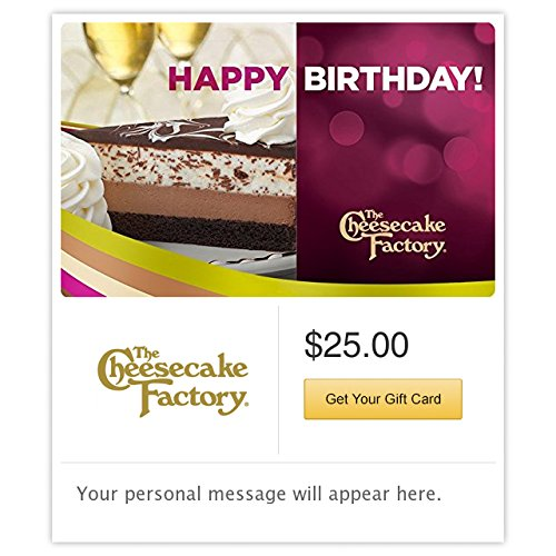 - The Cheesecake Factory Birthday Chocolate Cheesecake Gift Cards - Email Delivery