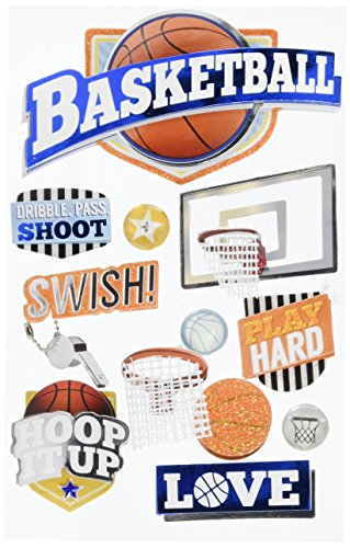 PAPER HOUSE 3D Stickers-Basketball Swish