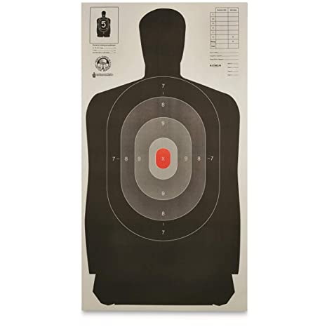 photograph about Printable Silhouette Shooting Targets identified as Legislation Enforcement Silhouette B-27 Ambitions, 50 Pack