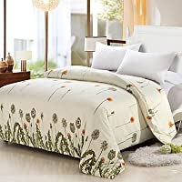 CABT Cream Color Duvet Cover Fashion Soft & Comfortable Cute Dandelion Printed Full/Queen/King Size