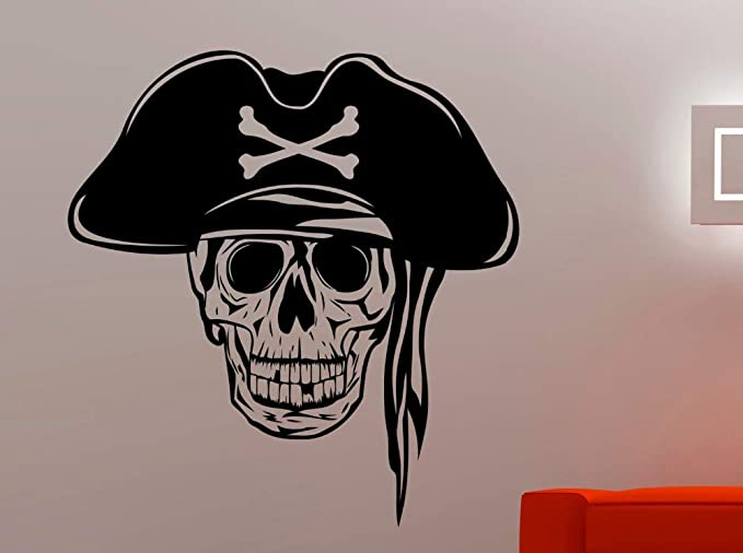 Popular serie pirata tatuajes de pared famoso cráneo especial ...