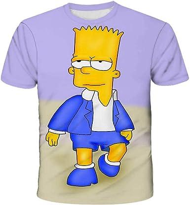GGGBO The Simpsons Camisetas Sudadera con Estampado 3D Otaku de Anime japonés para Mujeres y Hombres Camisetas Cosplay Disfraz-T-Shirt_160: Amazon.es: Ropa y accesorios