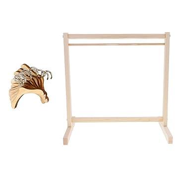 Amazon.com: Perchas de madera de bambú con 10 piezas para ...
