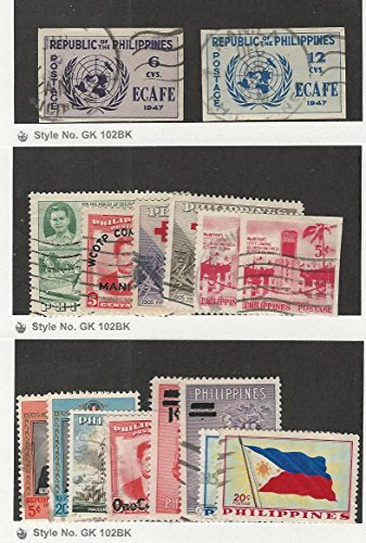 Philippines, Postage Stamp, 517a, 518a, 625-629a, 644-51 Used, 1947-59