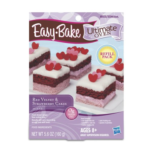 Easy-Bake Red Velvet & Strawberry Cakes Refill Pack 5.6 oz (Ez Bake Mixes)
