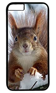 Cute squirre in snow Custom Masterpiece Limited Design Case for iPhone 6 Plus PC Black by Cases & Mousepads by icecream design