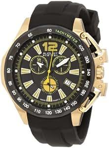August Steiner Men's ASA803YL Stainless Steel Chronograph GMT Watch