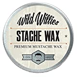 Wild Willie's Mustache Wax Original - The Only Hard Wax with 7 Natural Organic Ingredients for All Day Hold While Treating Your Mustache at The Same Time. Every Batch Made by Hand in The USA.5oz