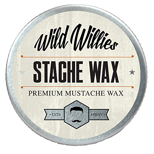 Wild Willie's Mustache Wax Original - The Only Hard Wax with 7 Natural Organic Ingredients for All Day Hold While...